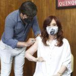 Cristina se vacunó contra el COVID