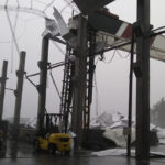 Destrozos por la tormenta en Romang