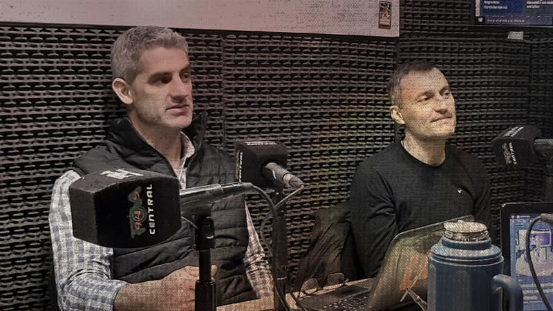 Raúl Medina y Matías Borrego en La Grieta